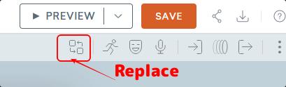 replaceアイコン