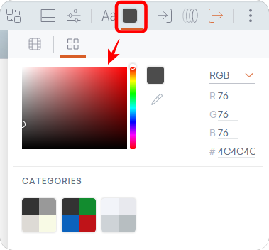 グラフのText color