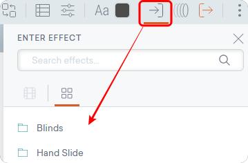 グラフのEnter Effect アイコン
