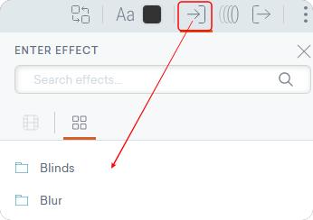 文字のEnter Effectアイコン