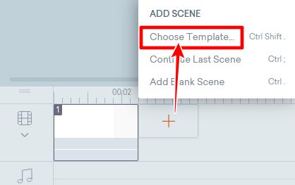 Choose Templateボタン