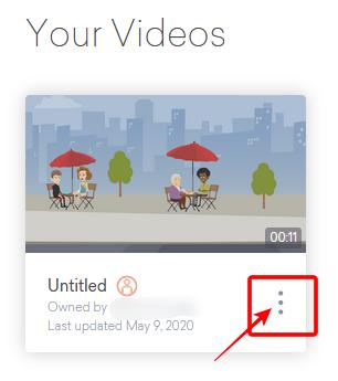 動画の詳細ボタン