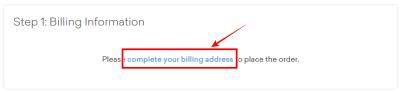 complete your billing address